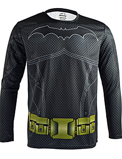Arsuxeo Quick Dry Long Sleeve Casual Cycling Jersey Batman