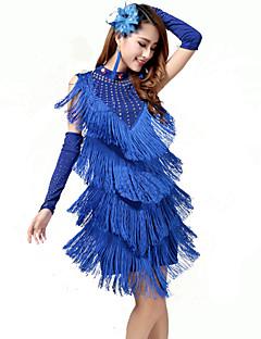 ריקוד לטיני שמלות בגדי ריקוד נשים ביצועים כותנה ניילון ספנדקס מילק פייבר גדיל (ים) חלק 1 שמלות 94