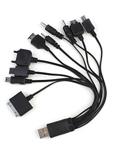 10 in 1 Multifunktionel Universal USB Lader/Data Kabel for Mobil/MP3/MP4/GPS
