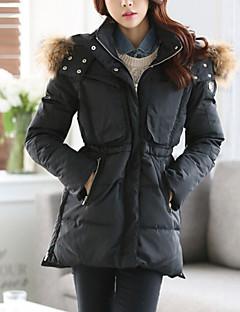 Dámské Vintage / Běžné nošení Polyester / Nylon Dlouhý kabát Kabát Dlouhý rukáv
