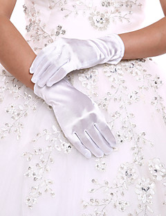 Polslengte Vingertoppen Handschoen Spandex Bruidshandschoenen Feest/uitgaanshandschoenen Lente Zomer Herfst Winter
