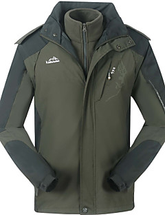 Men's Warm Hiking Jacket  3 In 1 Polyester 3-Layers 3 In 1 Windproof  Sport Outerwear Jackets Coat Twinset