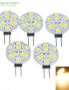5W G4 LED-kohdevalaisimet MR11 9 SMD 5730 360-450 lm Lämmin valkoinen Himmennettävä DC 12 / AC 12 V 5 kpl