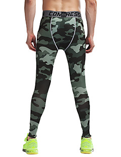 Running Tights / Pants / Bottoms Men's Breathable / Lightweight Materials Fitness / Running Vansydical Sports Wear Tight PerformanceArmy