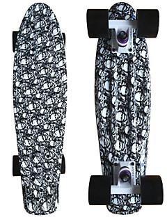 Schädelgraphik gedruckt Kunststoff-Skateboard (22 inch) Cruiser-Board mit ABEC-9 Lager
