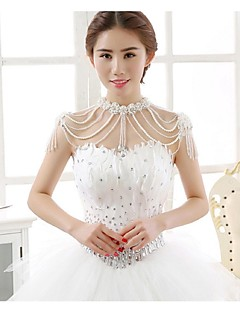 Wedding / Party/Evening Tulle / Sequined Capelets Sleeveless Wedding  Wraps