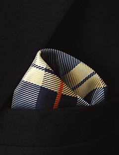 Men's Checke Checke 100% Silk Business Fashion Pocket Square