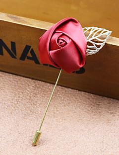 Miesten Naisten Rintaneulat Muoti pukukorut Kangas Metalliseos Flower Shape Rose Korut Käyttötarkoitus Häät Party Erikoistilaisuus