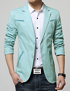 Men's Fashion High Quality Solid Two Buckle Casual Slim Suit