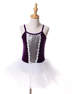 バレエ チュチュスカート ワンピース チュチュ 子供用 演出 訓練 チュール ベルベット 1個 ノースリーブ クリスマス Halloween プリンセス ドレス