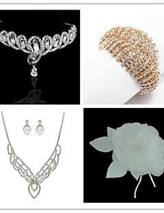 Smykker Set Dame Jubilæum / Bryllup / Forlovelse / Fødselsdag / Gave / Fest / Speciel Lejlighed Juvel Sæt Kvadratisk Zirconium / Legering