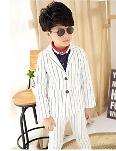 Czarny / Biały Polyester Oblek pro mládence - 2 Pieces Obsahuje