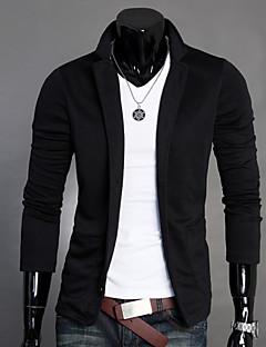 Erkeklerin Sade Günlük / İş Pamuklu Uzun Kollu Blazer Ceket Siyah / Gri