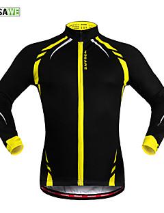 Wosawe® Cycling Jacket Unisex Long Sleeve BikeThermal / Warm / Windproof / Fleece Lining / Reflective Strips /
