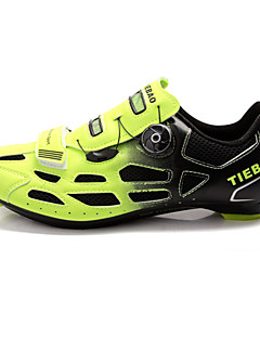 TIEBAO Unisex's Cycling ROAD BIKE Shoes More Colors Available (Green+Black)