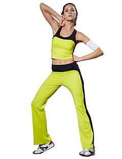 Yoga Set di vestiti/Completi Pantaloni + Top Traspirabilitàalta(>15001g) / wicking / Compressione / Coppe removibiliElevata