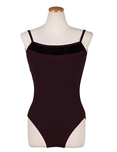 Ballet Leotards Women's Performance / Training /dance dresses  Cotton Buttons 1 Piece Coffee