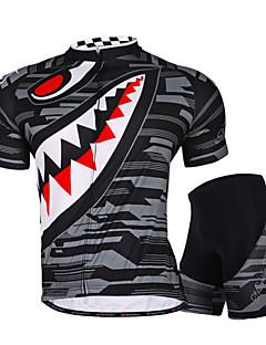 Nuckily Camisa com Shorts para Ciclismo Mulheres Homens Unissexo Manga Curta MotoImpermeável Respirável Resistente Raios Ultravioleta