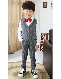 Black / Silver Polyester Ring Bearer Suit - 3 Pieces