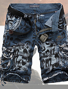 Men's cultivate one's morality loose tooling shorts Leisure fashion big yards more pockets of shorts GESE8