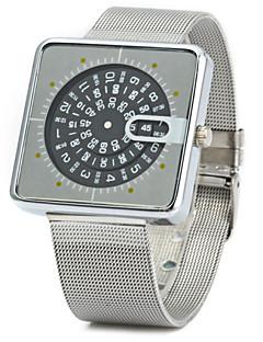 Herren Armbanduhr Quartz Legierung Band Silber Silber