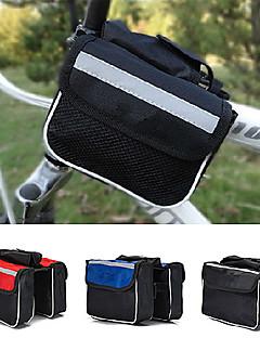 Bolsa para Quadro de Bicicleta ( Preto / Azul , Nailom / Lona / Terylene ) Á Prova-de-Água / Á Prova-de-Chuva / Vestível / CompactoViajar