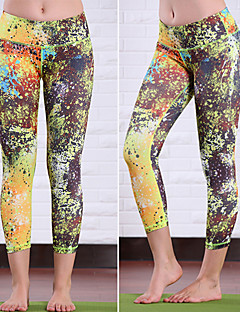Running 3/4 Tights / Bottoms Women's Sleeveless Breathable / Compression / Sweat-wicking Elastane / Terylene Yoga Queen Yoga Sports Wear