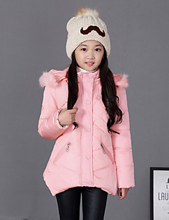 Girl's Blue / Pink / Red Down & Cotton Padded , Check Polyester Winter