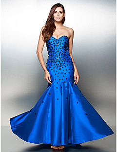 Formal Evening Dress - Pool Trumpet/Mermaid Sweetheart Floor-length Satin