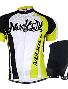 NUCKILY® Cycling Jersey with Shorts Unisex Short Sleeve BikeWaterproof / Breathable / Ultraviolet Resistant / Moisture Permeability /