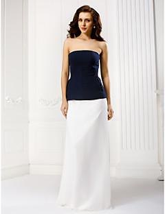구슬과 TS couture® 공식적인 이브닝 드레스 칼집 / 칼럼 끈이 바닥 길이 쉬폰