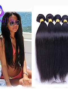 peruvian virgin hair 4pcs straight human hair weaves natural black peruvian straight hair  8-26 inch