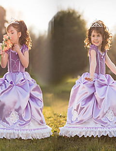 Costumes de Cosplay Princesse / Conte de Fée Cosplay de Film Violet Couleur Pleine Robe Halloween / Noël / Nouvel an Enfant Satin