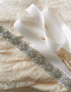 새틴 웨딩 / 파티/이브닝 / 일상복 창틀-스팽글 / 비즈 / 진주 / 크리스탈 / 모조 다이아몬드 여성 98 ½인치(250cm) 스팽글 / 비즈 / 진주 / 크리스탈 / 모조 다이아몬드
