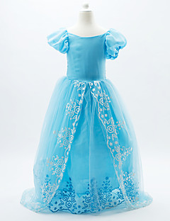 Cinderella Girls' Luxury Formal Ball Gown Dress Cosplay Costumes Princess Fairytale Blue Dress Halloween Christmas Carnival  Children's Day
