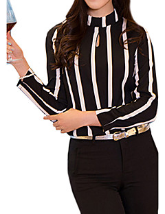 Women's Sexy Casual Micro Elastic Long Sleeve Regular Shirt (Cotton)