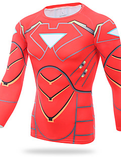 XINTOWN Male Iron Man Riding Sports Fitness Tights T-shirt