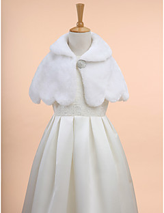 Wedding / Party/Evening Faux Fur Capelets Mouwloos Kinderstola's