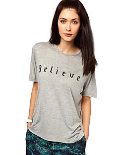 T-shirt stampata sottile delle donne