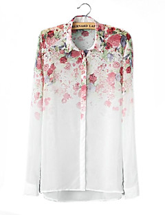 Flores de Chiffion de manga larga Blusas Mujeres Skymoto ®