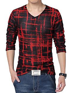 Men's Fashion Breathable Mesh V Collar Slim Fit Long-Sleeve T-Shirt