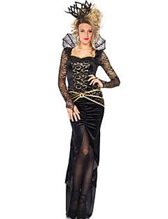 Cosplay Kostumer Festkostume Prinsesse Dronning Eventyr Festival/Højtider Halloween Kostumer Sort Patchwork KjoleHalloween Jul Karneval