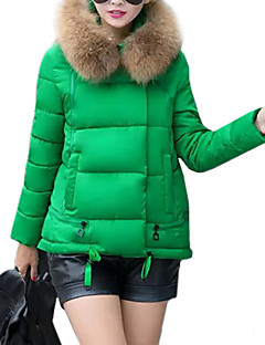 Women's Long Sleeve Winter Parka Coat , Casual Cotton/Faux Fur Hooded Down Jacket (More Colors)