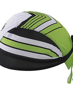 싸이클링 캡 모자 반다나 자전거 통기성 빠른 드라이 자외선 방지 안티 곤충 정전기 방지 박테리아 제한 초경량 패브릭 땀 흡수 기능성 소재 선크림 남녀 공용 그린 100% 폴리에스터