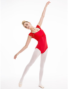 Cotton/Lycra Leotard with Lace More Colors for Girls and Ladies