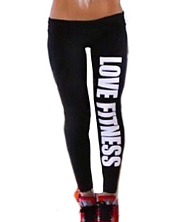 Women's Cotton  Fashion Love Fitness Pattern Sports Legging