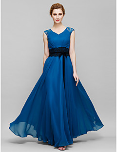 Lanting A-line Mother of the Bride Dress - Ink Blue Ankle-length Sleeveless Chiffon