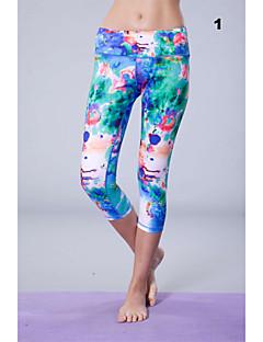 Corrida Calças / 3/4 calças justas / Fundos Mulheres Secagem Rápida / Materiais Leves Algodão / TeryleneIoga / Pilates / Exercicio e