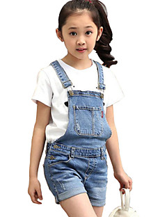 Girl's Casual/Daily Jeans,Cotton Summer Blue