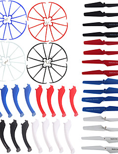 4color / 48 SYMA X5s / x5sw / x5sc reserveonderdelen set 16 landingsgestel + 16 bladschroef + 16 protect ring voor rc quadcopter drone